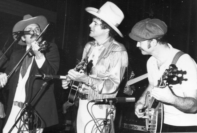 Tex Logan, Peter rowan, Bill Keith in Naples