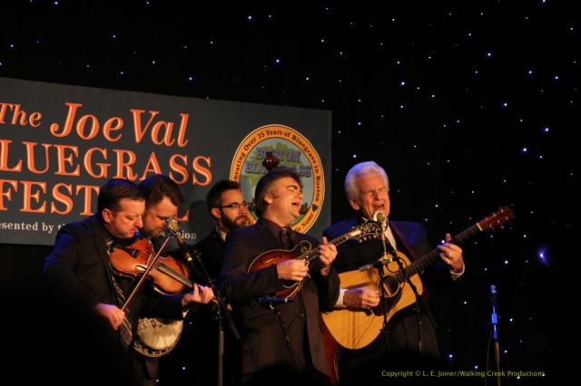 The Del McCoury Band: Jason Carter, Rob McCoury, Alan Bartram, Ronnie McCoury, Del McCoury
